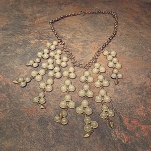 Stella & Dot Dahlia Pearl Bib Necklace